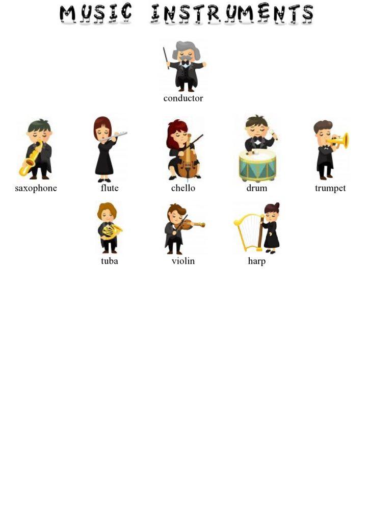 Musikinstrumente im Englischen