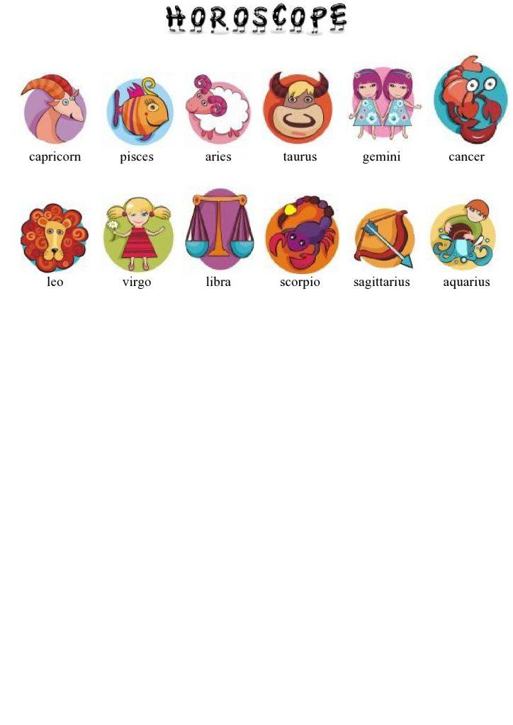 Horoskop im Englischen
