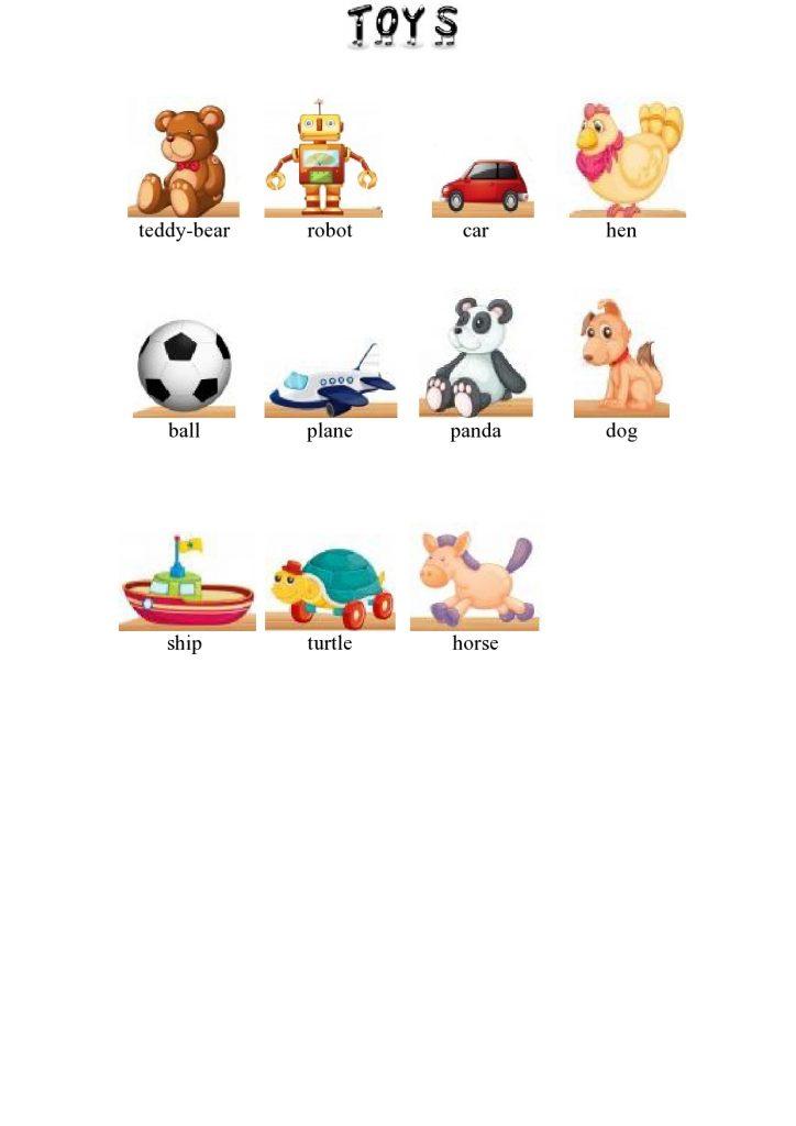 Spielzeug im Englischen