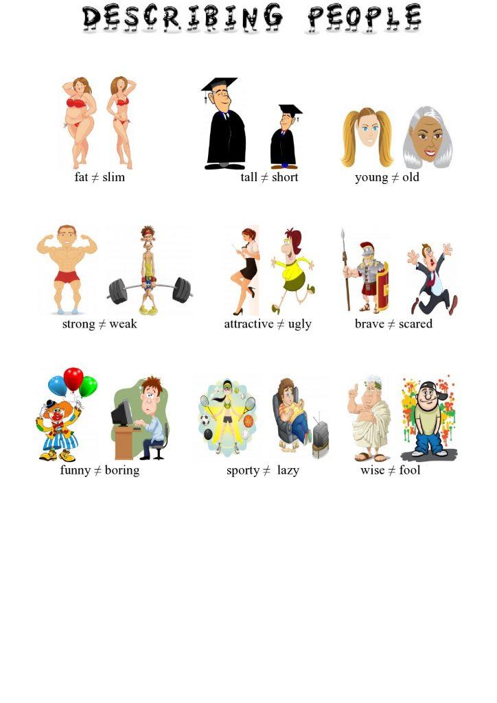 Menschen beschreiben im Englischen